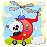 Panda in helicopter Royalty Free Stock Images