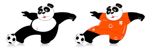 Panda Holandia Zdjęcia Stock