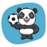 Panda Holds Soccer Ball Fotografía de archivo libre de regalías
