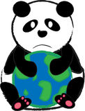 Panda Hug World Royalty Free Stock Images