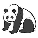 Panda icon cartoon vector illustration
