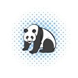 Panda icon in comics style Stock Photography