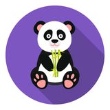 Panda icon in flat style isolated on white background. Japan symbol stock vector illustration. Royalty Free Stock Photo