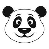 Panda icon, simple style Royalty Free Stock Photo