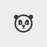 Panda Icon in una progettazione piana nel colore nero Illustrazione EPS10 di vettore Immagine Stock Libera da Diritti