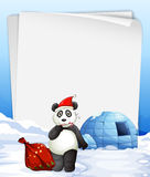Panda and igloo Royalty Free Stock Images