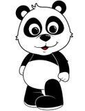 Panda Illustration. Baby Panda Illustration on a white background royalty free illustration