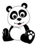 Panda Illustration. Baby Panda Illustration sit on a white background royalty free illustration