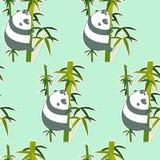 Panda inconsútil en el modelo de bambú libre illustration