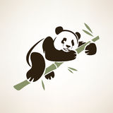 Panda isolated symbol Royalty Free Stock Photos