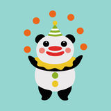 Panda juggler Royalty Free Stock Photo
