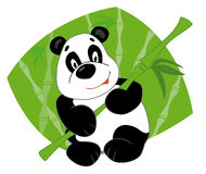 Panda keeps bamboo. And smiling Stock Illustration