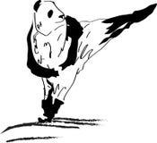 Panda, kick, панда, удар vector illustration