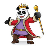 Panda King Illustration Libre de Droits