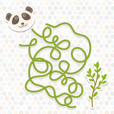 Panda  labyrinth game for Preschool Children. Vector Royalty Free Stock Photography