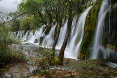 Panda lake falls in Jiuzhaigou, China, Asia Royalty Free Stock Image