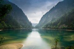 Panda Lake Jiuzhaigou stock image