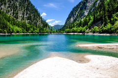 Panda lake at Jiuzhaigou, Sichuan, China Stock Photos
