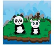 Panda Land bonito Imagens de Stock Royalty Free