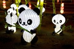 Panda Lanterns Stock Photo