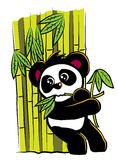 Panda Leaning On Bamboo Stock Images
