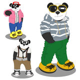 Panda lifestyle fashion Royalty Free Stock Photos
