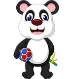 Panda linda del drenaje de la mano Imagenes de archivo