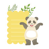 Panda With Lined Paper And Plants Vector Sticker, Template St. Valentines Day Message Element Missing Text With Cute Royalty Free Stock Photo