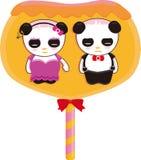 Panda lollipop Royalty Free Stock Images