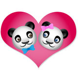 Panda Love Royalty Free Stock Photos