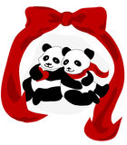 Panda Love Royalty Free Stock Image