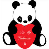 Panda with love heart Valentines Royalty Free Stock Photo