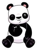 Panda make a middle finger symbol. Cute cartoon panda makes a middle finger symbol royalty free illustration