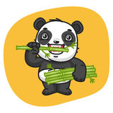 Panda mangeant le bambou illustration stock