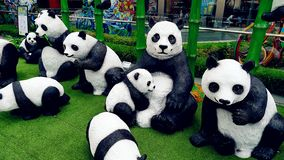 Panda Mascot Statue Outdoor bonito fotografia de stock royalty free