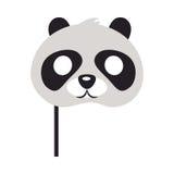 Panda Mask Orso con gli occhi rotondi delle toppe nere Fotografie Stock