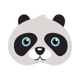 Panda Mask Orso con gli occhi rotondi delle toppe nere Fotografia Stock