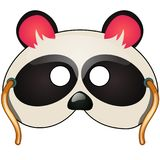Panda mask. Carnival and masquerade accessories. Panda mask with strings drawn in cartoon style. Carnival and masquerade accessories for children and adults Royalty Free Stock Image