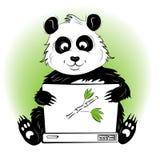 Panda med bärbara datorn Royaltyfri Bild