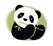 Panda med bambu. Arkivfoton