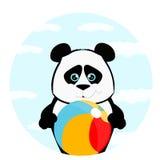 Panda med bollen Arkivbild