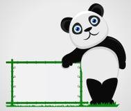 Panda med mellanrumet Vektor Illustrationer