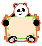Panda Message Board Stock Image