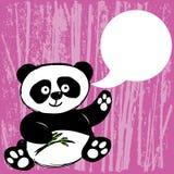 Panda met bamboetak Stock Foto