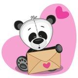 Panda met envelop stock illustratie