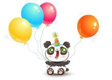 Panda mignon avec des ballons Images stock