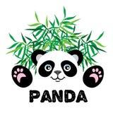 Panda mignon dans le bambou Photographie stock libre de droits