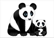 panda mignon de bande dessinée photo libre de droits