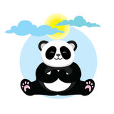 Panda mignon et beau de caractère Photo stock