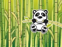 Panda mit babmboo Stockfotografie